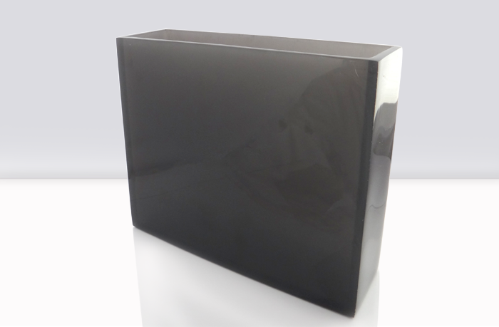 florero rectangular de resina