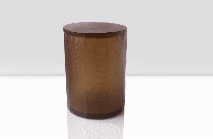 Caja redonda alta de resina
