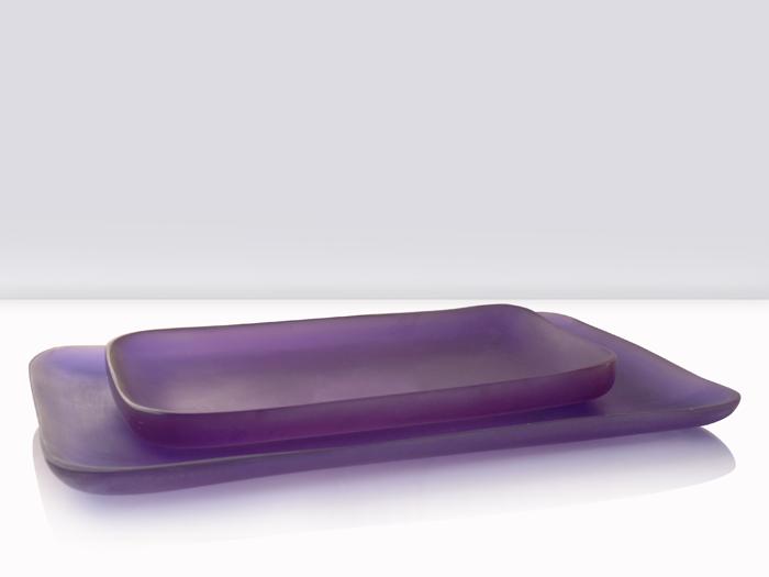 charolas rectangulares en resina