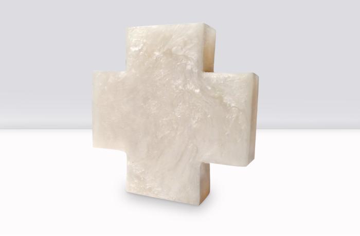 cruz de resina para bolo de bautizo o comunión