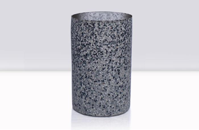 basurero piedra de resina